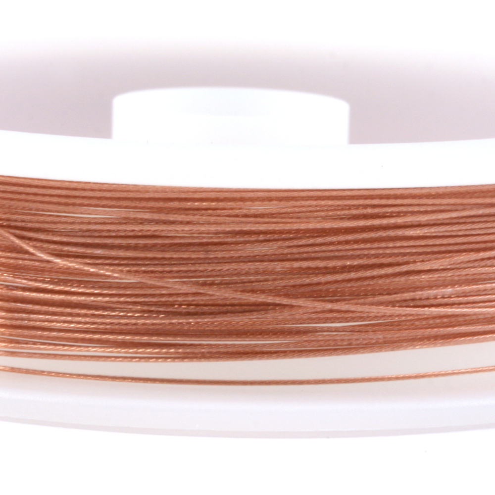 Rivets,  Findings & Stringing .015 7-Strand Copper Metallic Beadalon Stringing Wire