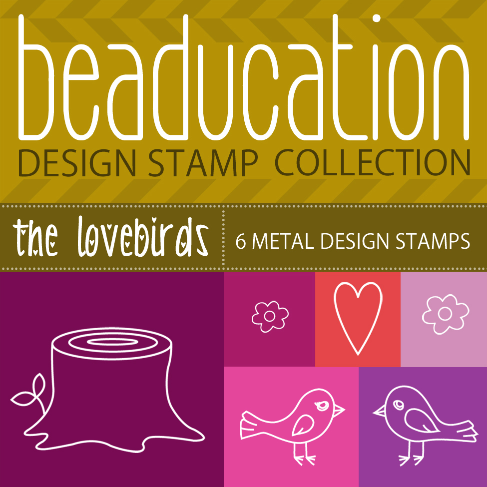 Metal Stamping Tools Beaducation Design Stamp Collection: The Lovebirds