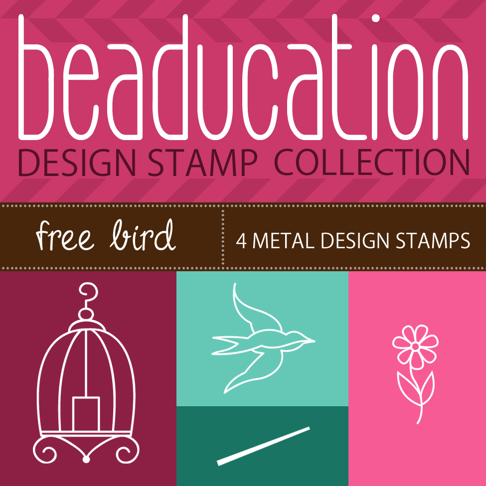 Metal Stamping Tools Beaducation Design Stamp Collection: Free Bird