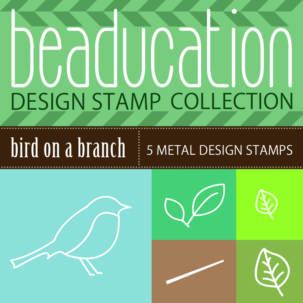 Metal Stamping Tools Beaducation Design Stamp Collection: Bird on a Branch