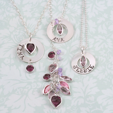Charms & Solderable Accents Swarovski Crystal Navette Silver Charm (Garnet - JANUARY)