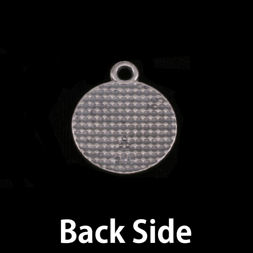 "Metal Stamping Blanks Pewter Circle with Flower Edge, 16.5mm (.65""), 18g"