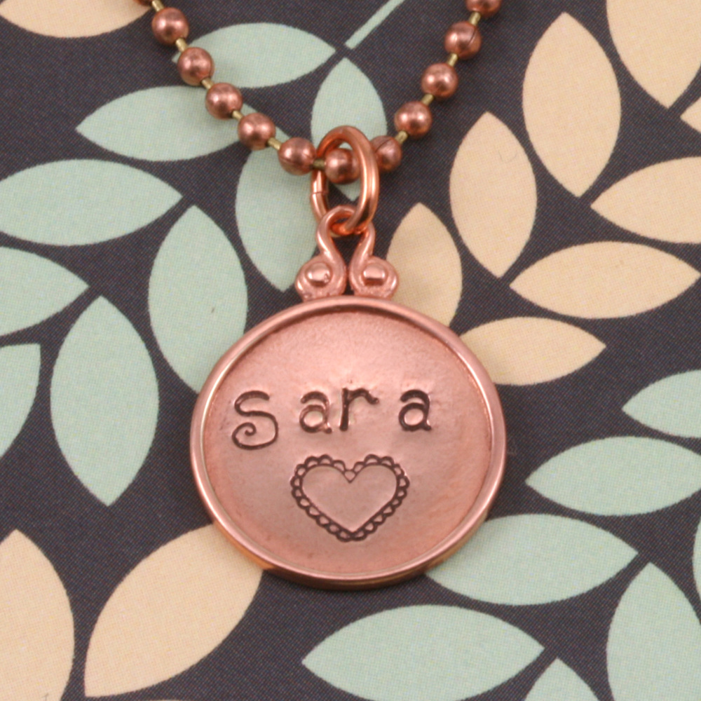 Metal Stamping Blanks Copper Circle Pendant with Raised Edge