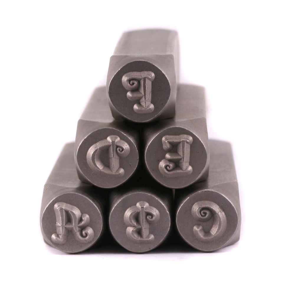 "Metal Stamping Tools Curls Uppercase Letter Stamp Set 1/4"" (6mm)"