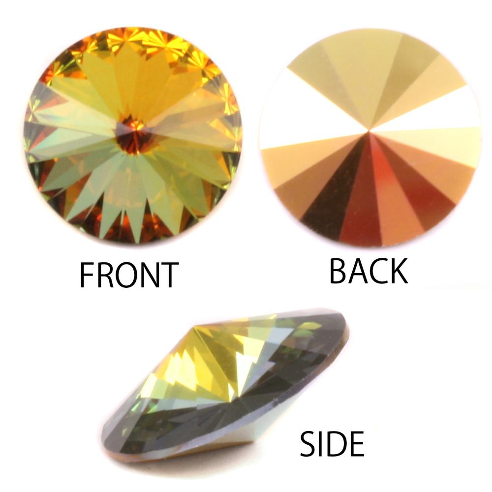 Crystals & Beads Swarovski Crystal Rivoli - Sahara 18mm