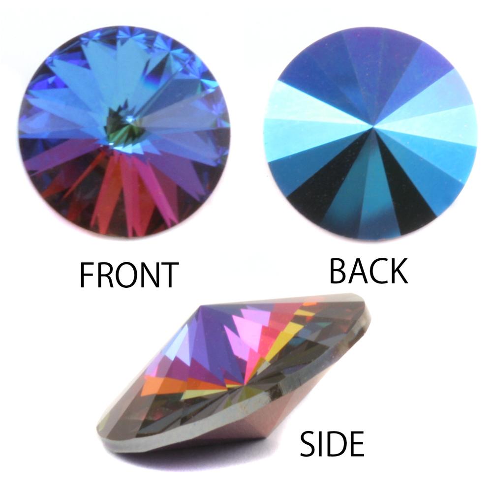 Crystals & Beads Swarovski Crystal Rivoli - Bermuda Blue 14mm