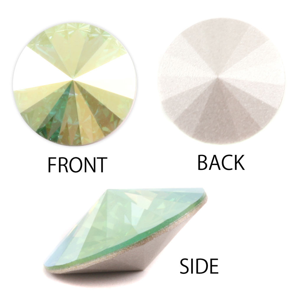 Crystals & Beads Swarovski Crystal Rivoli - Peridot AB 18mm Limited Edition