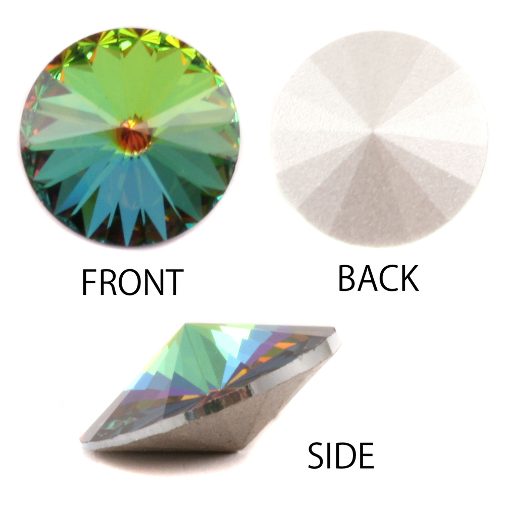 Crystals & Beads Swarovski Crystal Rivoli - Medium Vitrail 14mm