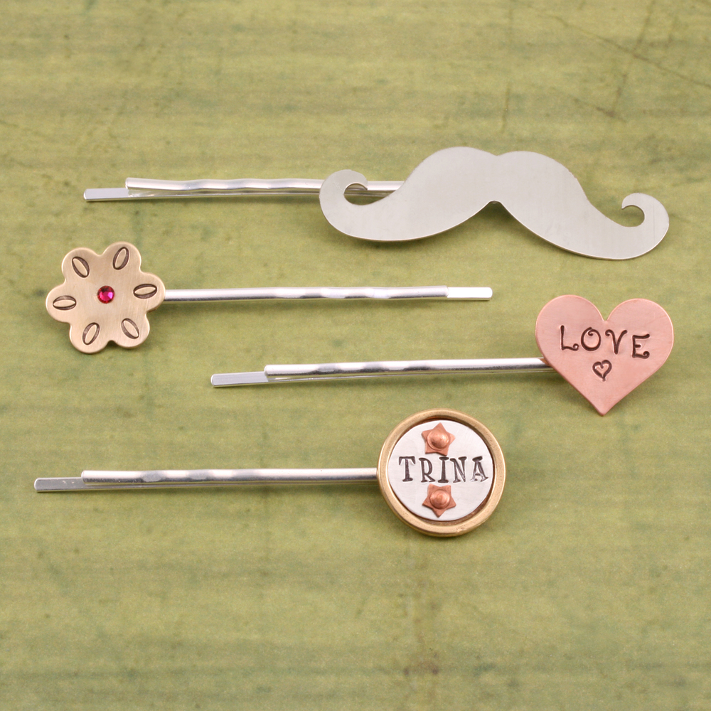Rivets,  Findings & Stringing Silver Plated Hair Pins, 4pk