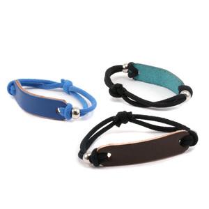 "Leather & Faux Leather Leather Bracelet Blank 1/2"" x 2 1/4"" Purple"