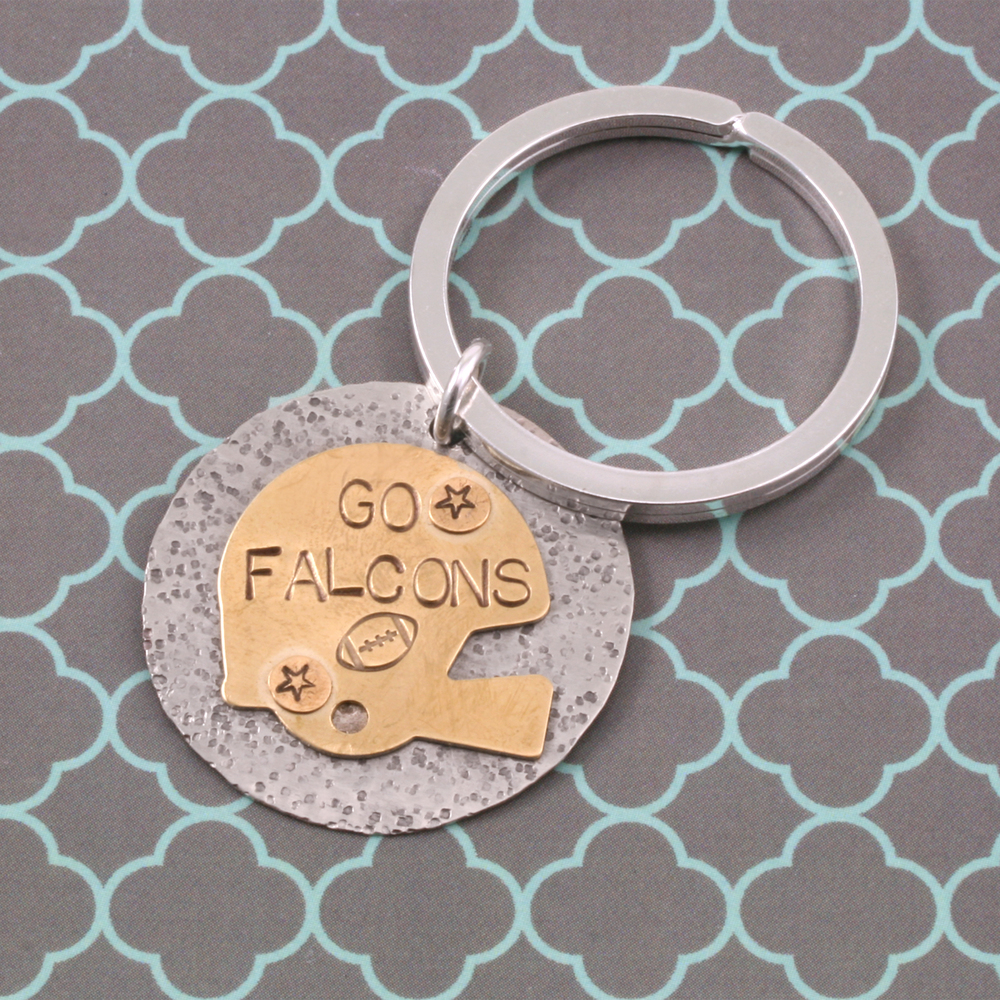 Metal Stamping Blanks Silver Plated Key Ring