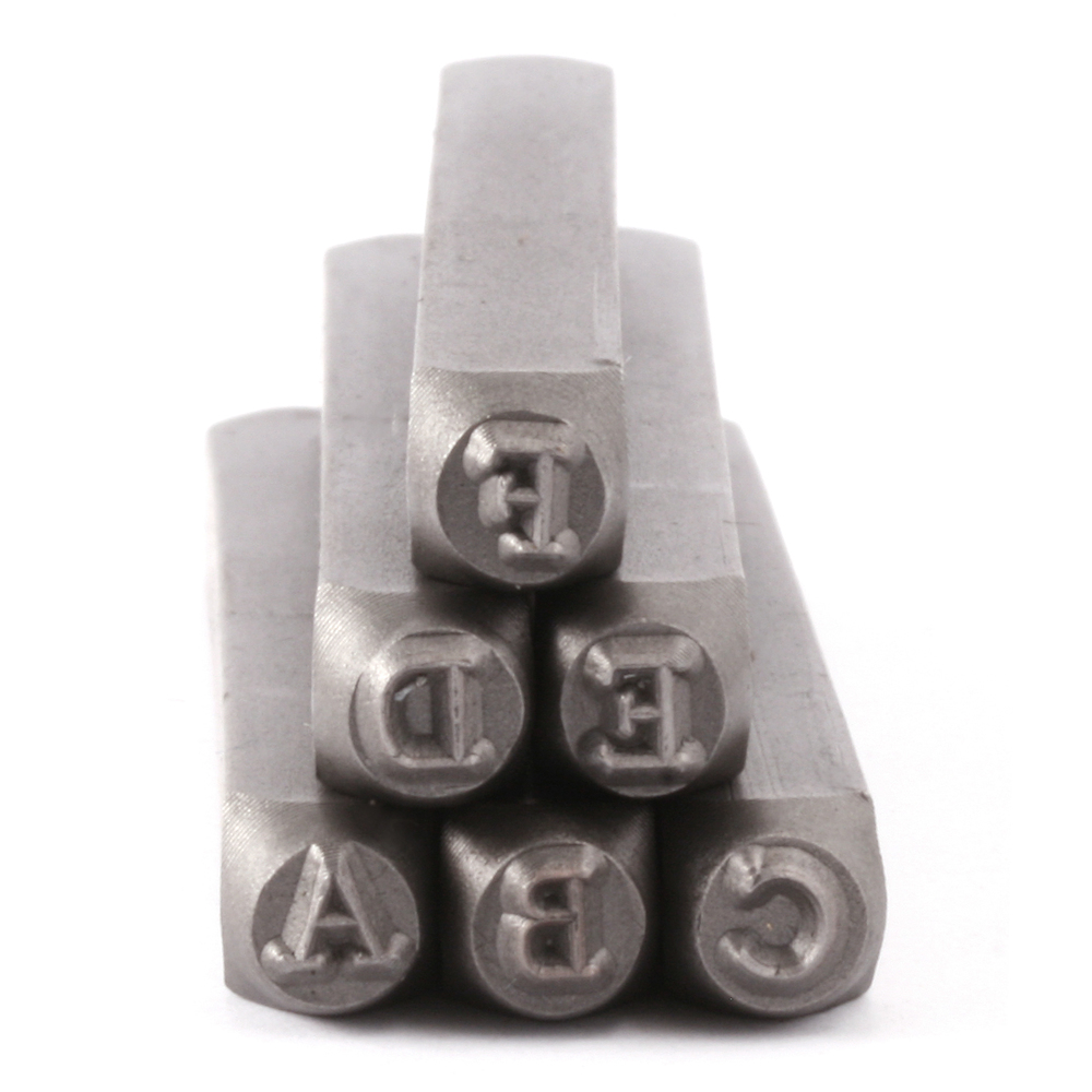 "Metal Stamping Tools ImpressArt Newsprint Uppercase Set for Stainless Steel 1/8"" (3mm)"