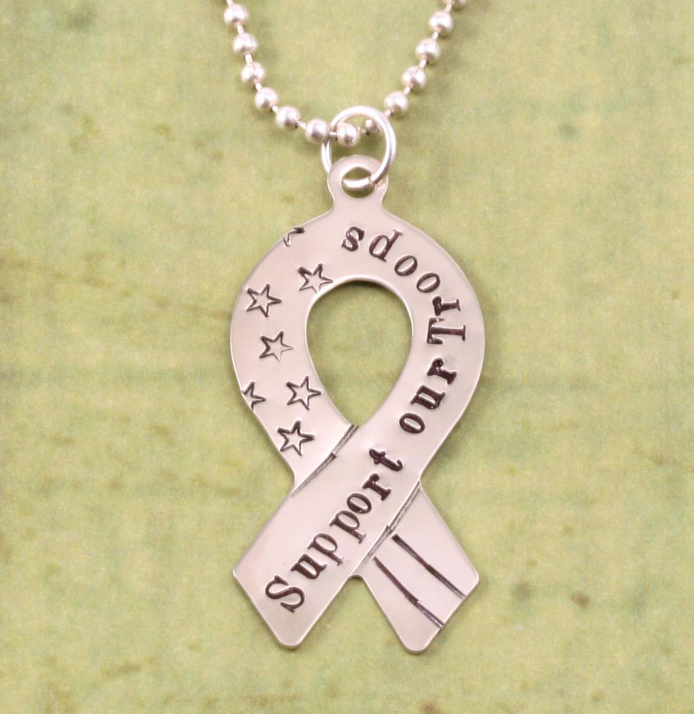 Metal Stamping Blanks Nickel Awareness Ribbon Blank, 24g