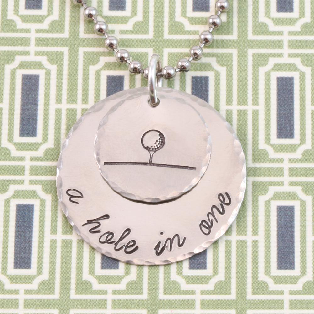 Metal Stamping Tools Golf Ball on Tee Metal Design Stamp - Beaducation Original