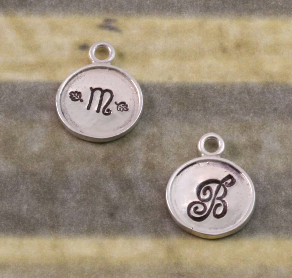 Metal Stamping Blanks Sterling Silver Tiny Circle Pendant with Raised Edge
