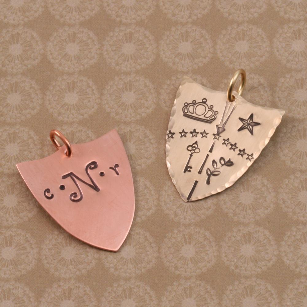 Metal Stamping Blanks Brass Shield, 24g