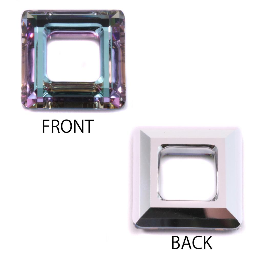 Crystals & Beads Swarovski Crystal Square Ring - Light Vitrail 20mm
