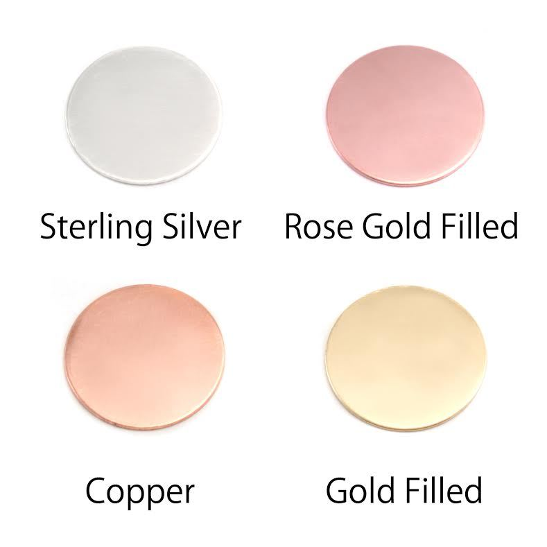 "Metal Stamping Blanks Rose Gold Filled Round, Disc, Circle with Hole, 8mm (.31""), 20g"