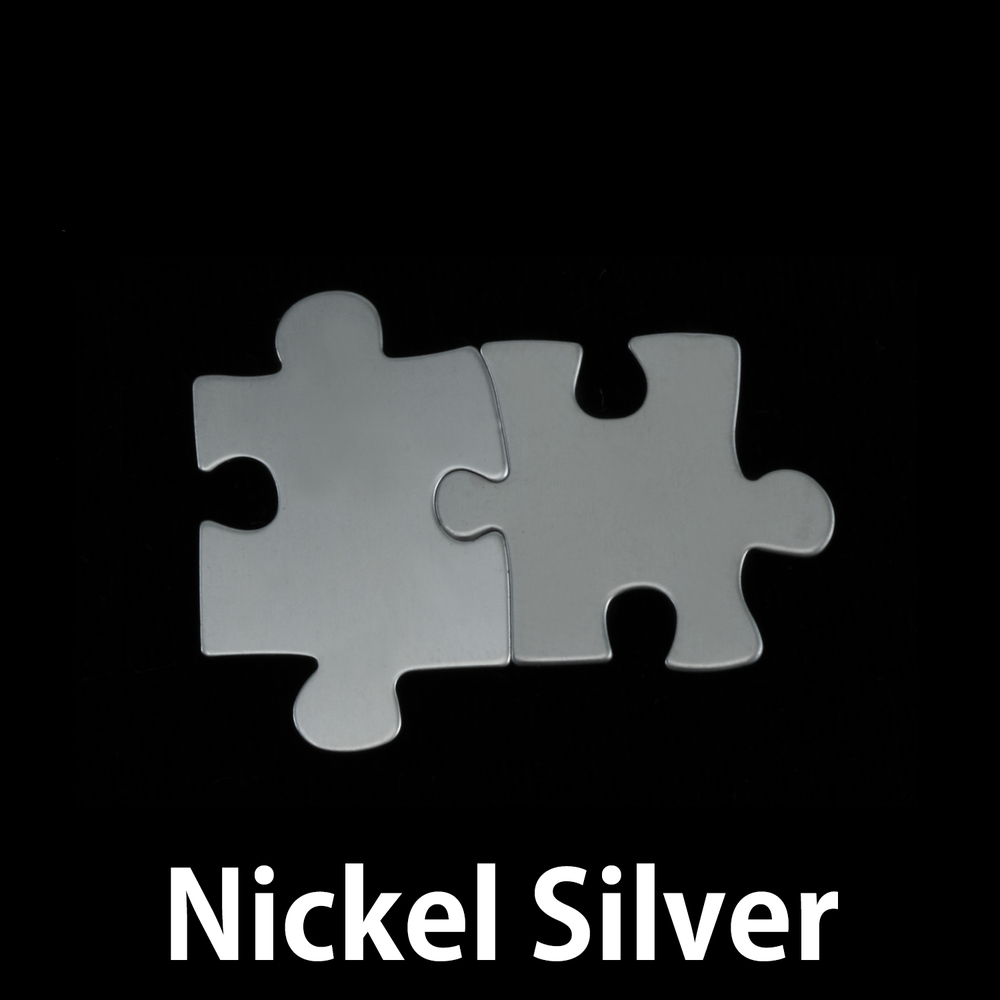 Metal Stamping Blanks Nickel Silver Paired Puzzle Pieces, 24g