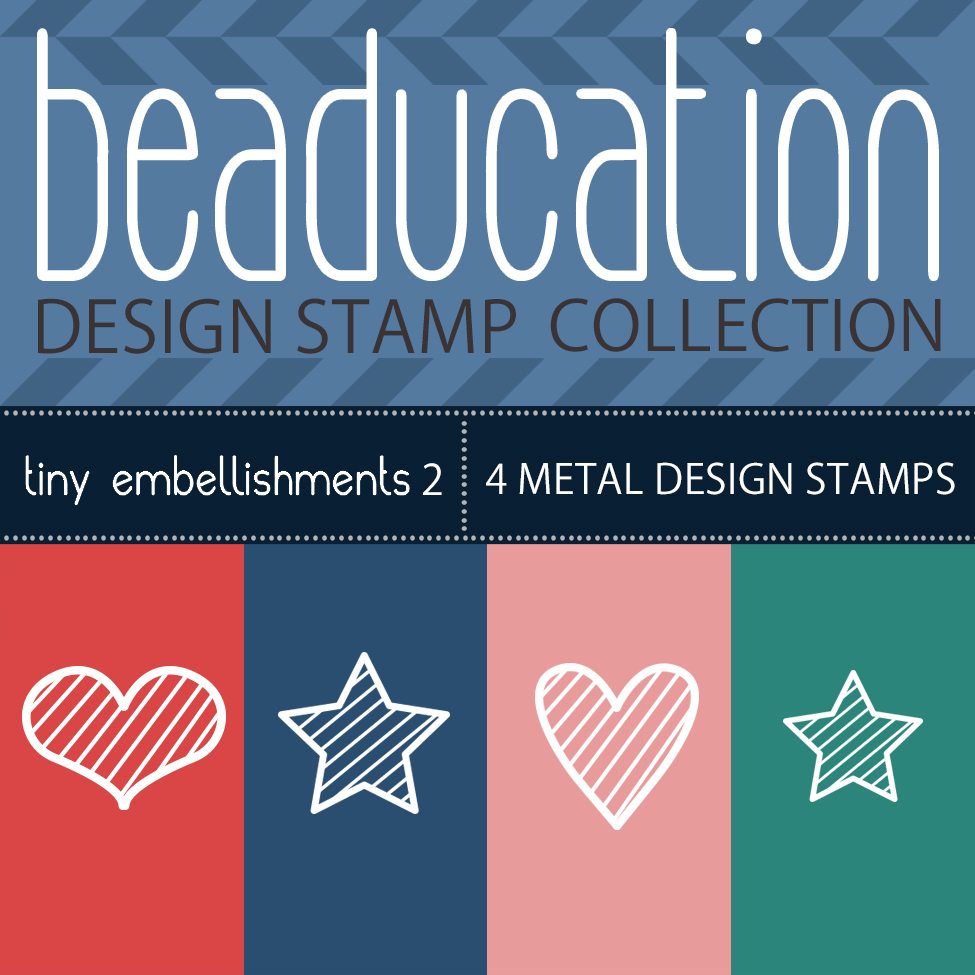 Metal Stamping Tools Beaducation Metal Design Stamp Kit: Tiny Embellishments II