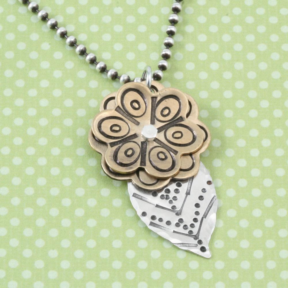 Metal Stamping Blanks Gold Filled Leaf, 24g