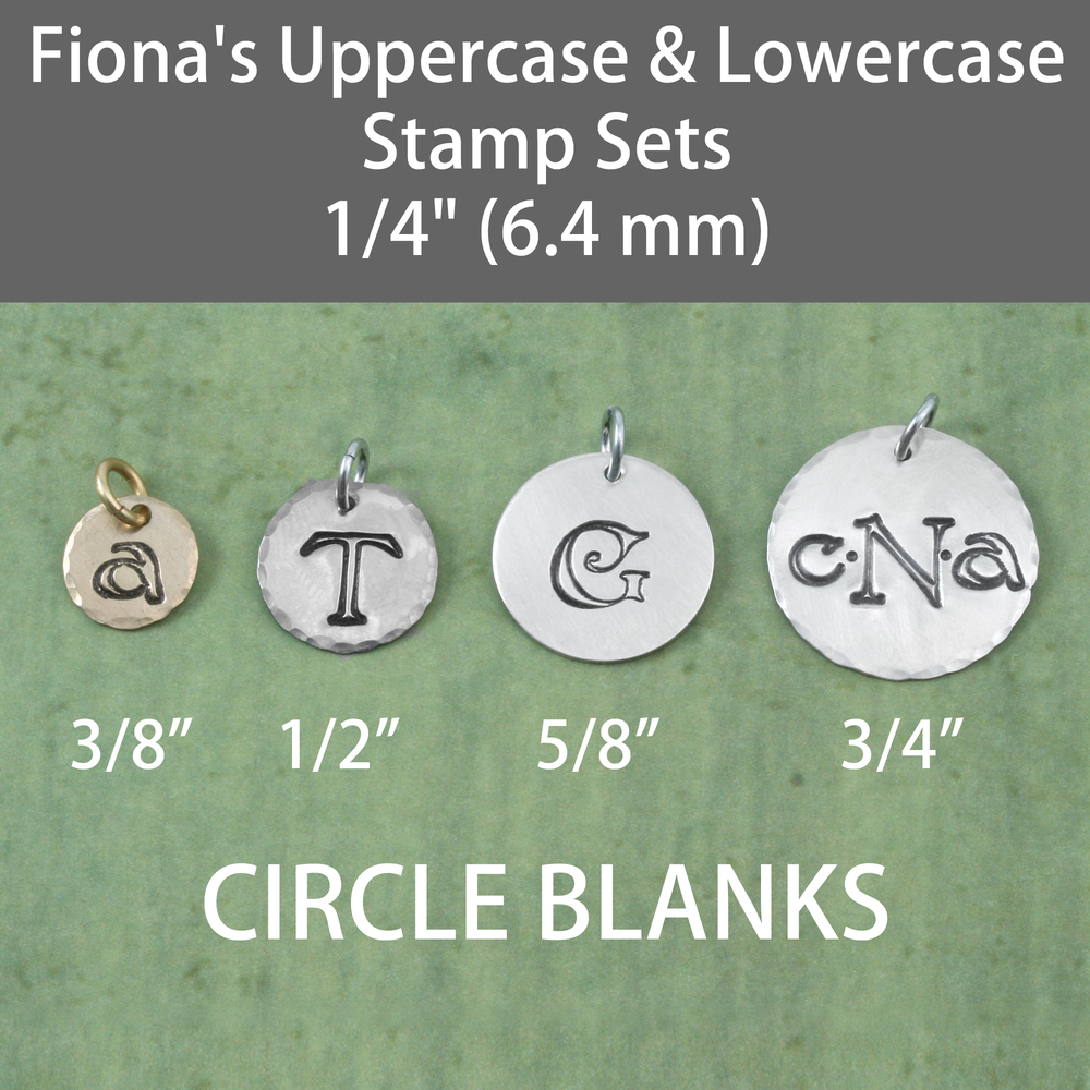 "Metal Stamping Tools Fiona's Uppercase Letter Stamp Set 1/4"" (6.4 mm)"