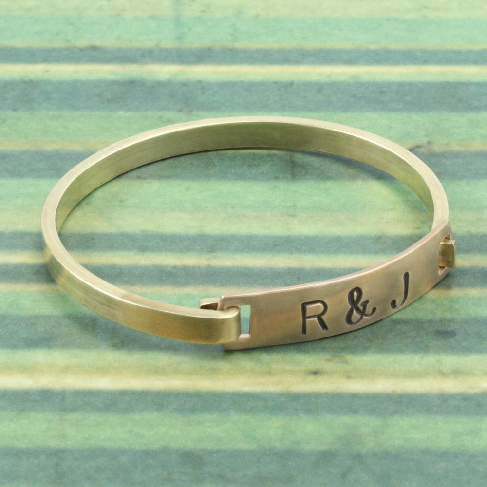 Metal Stamping Blanks Brass Swing Top Rectangle Bracelet, 16g