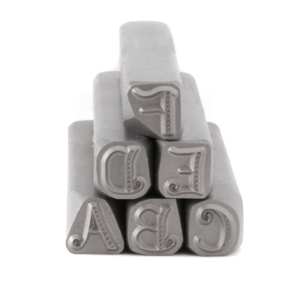 Metal Stamping Tools Beaducation Kismet Uppercase Letter Stamp Set 7mm