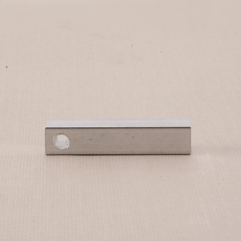"Metal Stamping Blanks Aluminum Four Sided Pendant, 31.8mm (1.25"") x 6.4mm (.25"")"