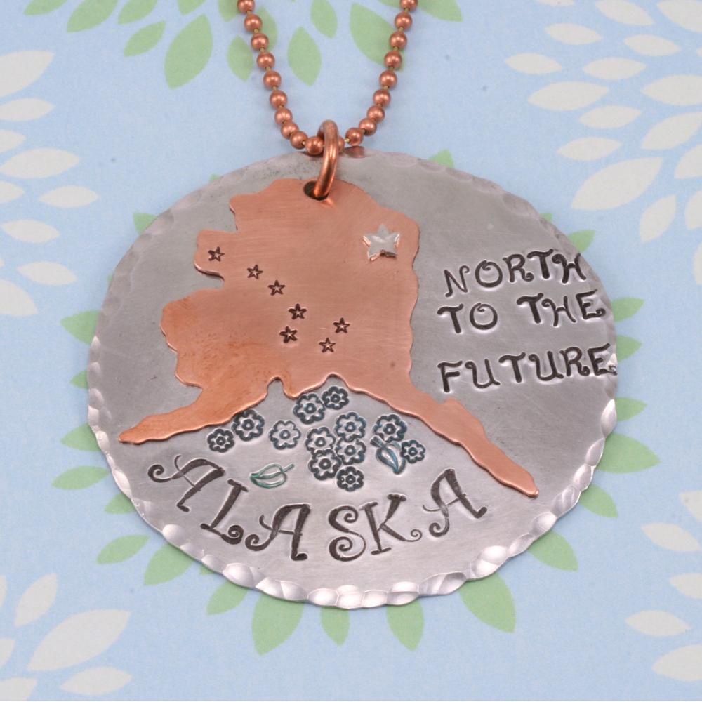 Metal Stamping Blanks Nickel Silver Alaska State Blank, 24g
