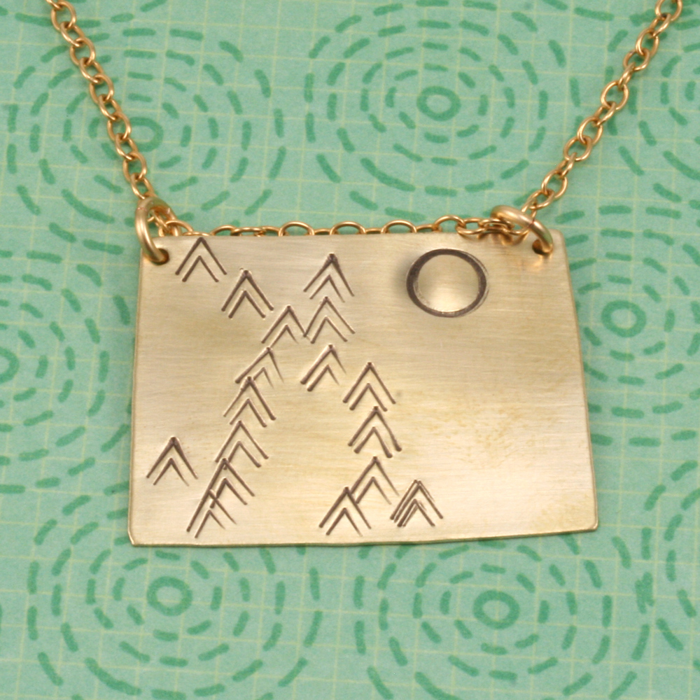 Metal Stamping Blanks Nickel Silver Colorado/Wyoming State Blank, 24g