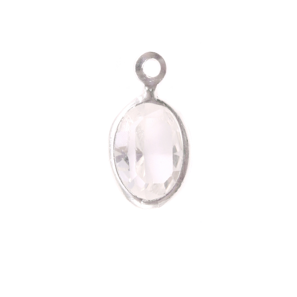 Charms & Solderable Accents Swarovski Crystal Oval Charm (Diamondique - APRIL)