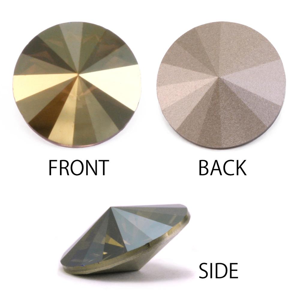 Crystals & Beads Swarovski Crystal Rivoli - Iridescent Green Foiled 14mm