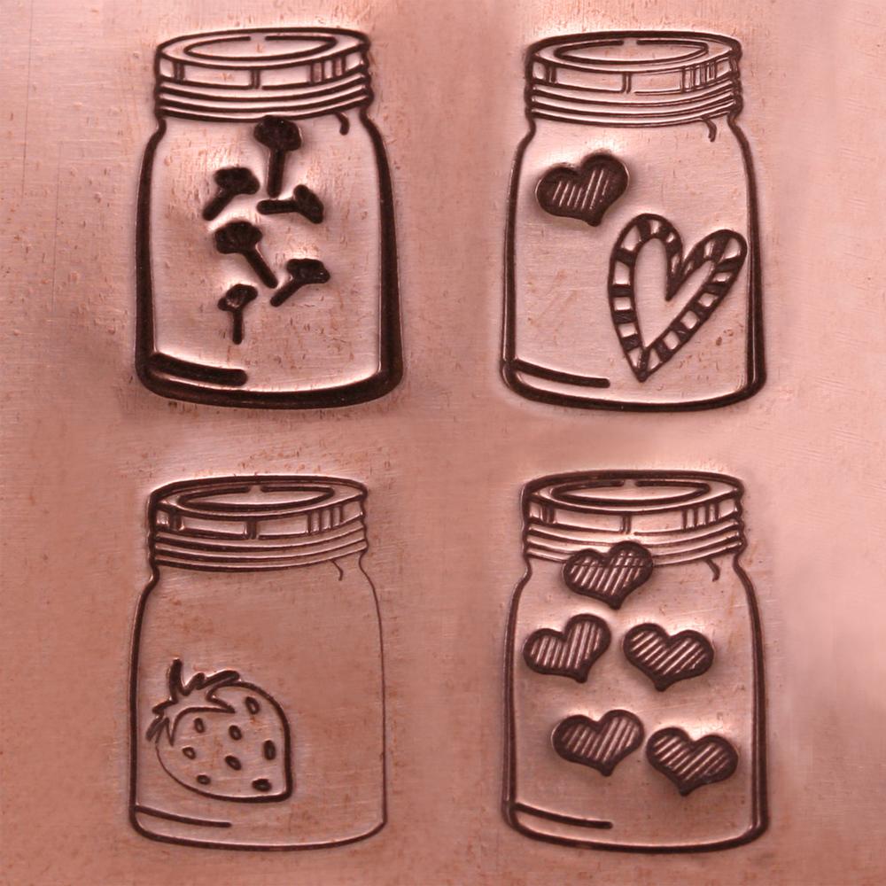 Metal Stamping Tools Mason Jar Metal Design Stamp- Beaducation Original