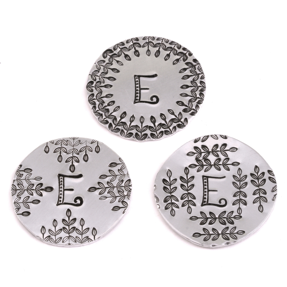"Metal Stamping Tools Kismet Letter ""E""  7mm - Beaducation Original"