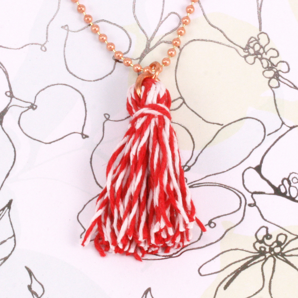 Rivets,  Findings & Stringing Hemp Cord- Mini Card Red and White