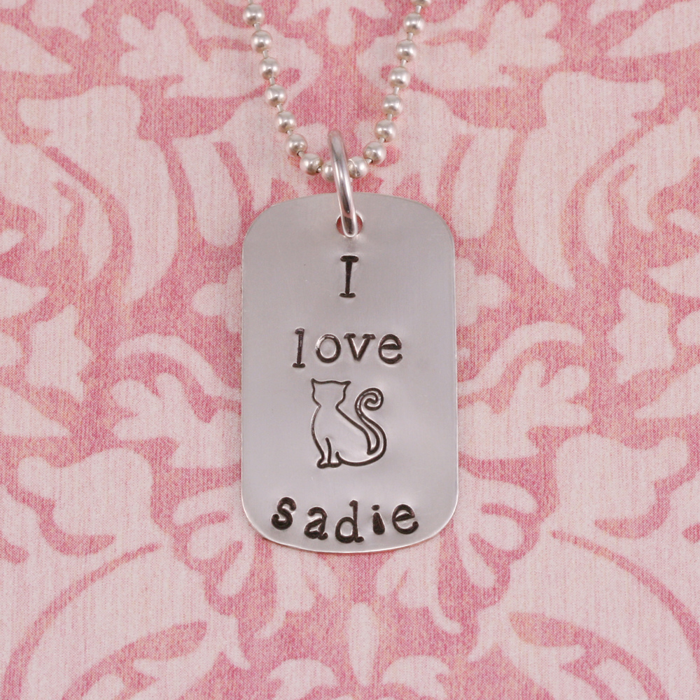 Metal Stamping Tools Sadie the Cat Metal Design Stamp - Beaducation Original