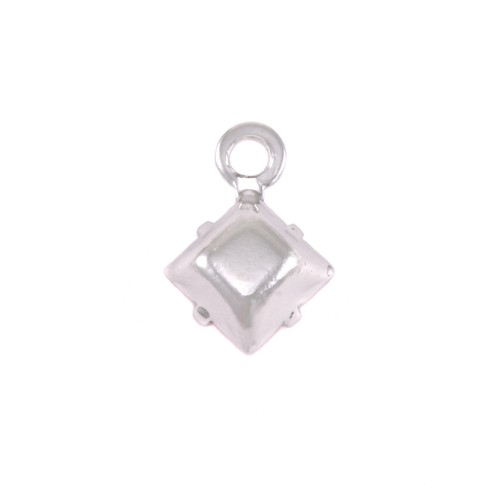 Charms & Solderable Accents Swarovski Xilion Square Fancy Crystal Charm (Sapphire - SEPTEMBER)