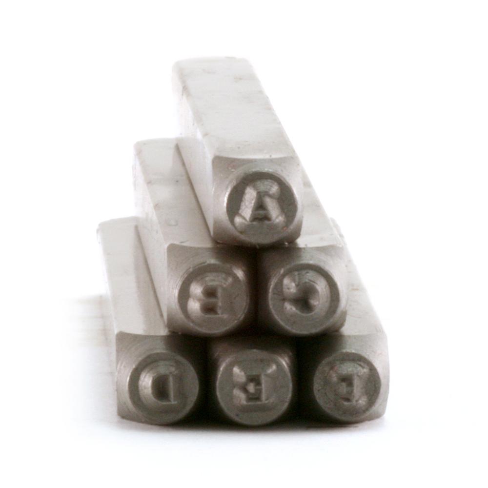 """Metal Stamping Tools Typewriter Uppercase Letter Stamp Set 5/64"""" (2mm)"""
