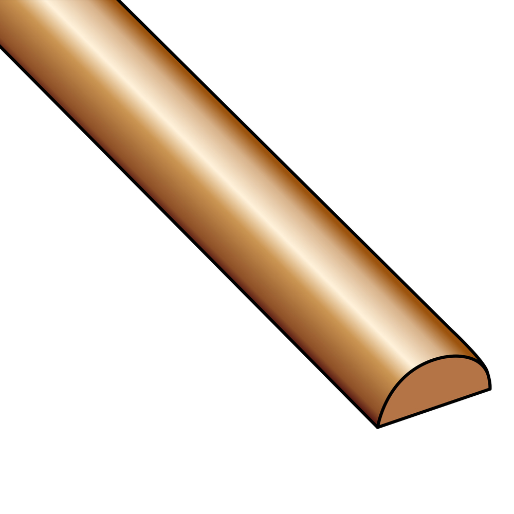 Wire & Sheet Metal 20g Copper, Half Round, Half Hard, 5 ft