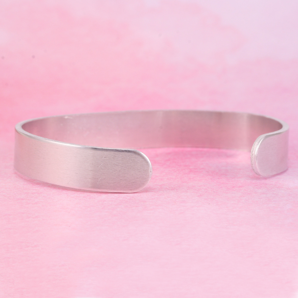 "Metal Stamping Blanks Aluminum Bracelet Blank, 6"" Long, 3/8"" Wide, 14g"