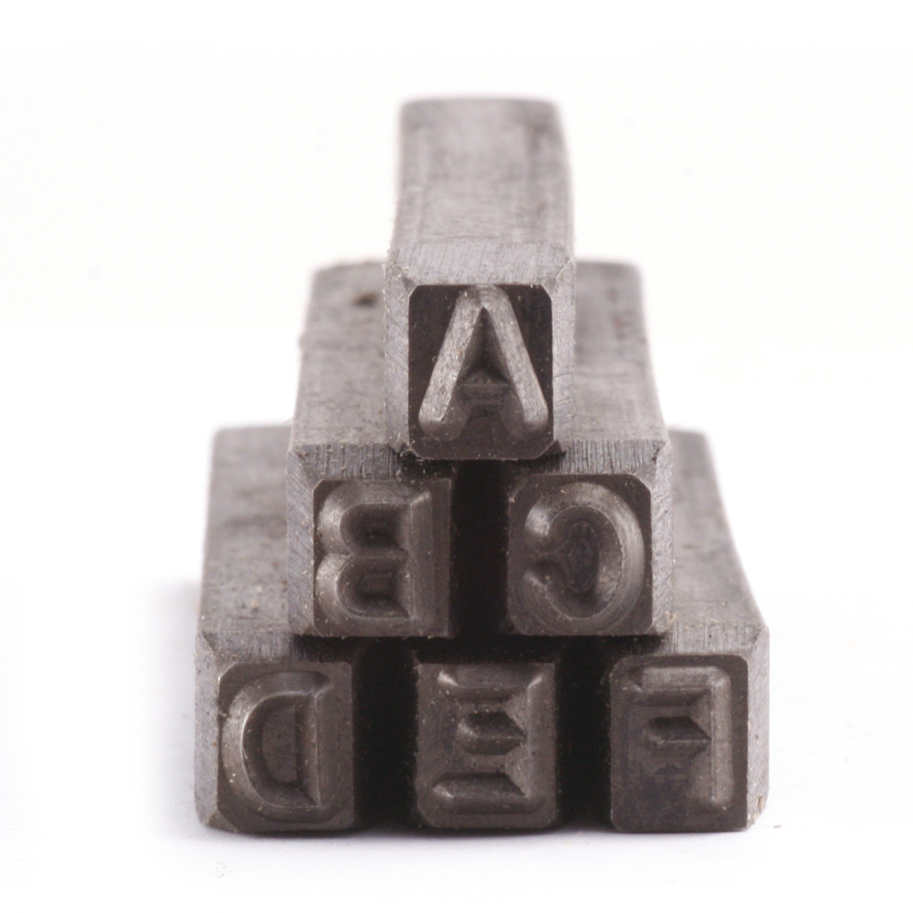 "Metal Stamping Tools USA Made Block Uppercase Letter Stamp Set 3/16"" (4.8mm)"
