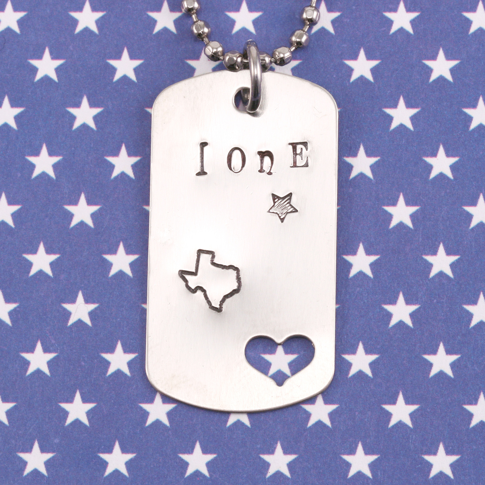 ImpressArt Texas Outline Metal Design Stamp