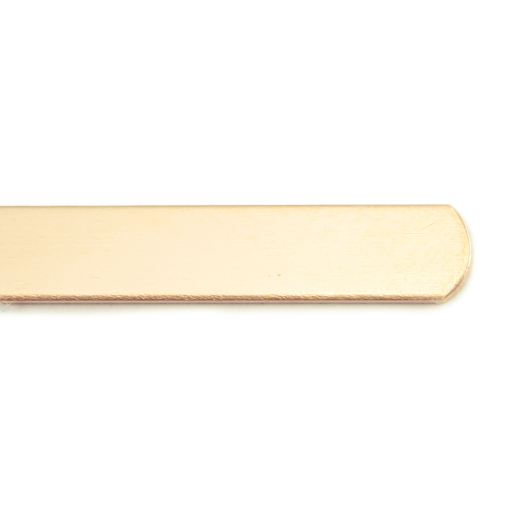 "Metal Stamping Blanks Rose Gold Filled Strip, 152mm (6"") x 4mm (.16""), 20g"