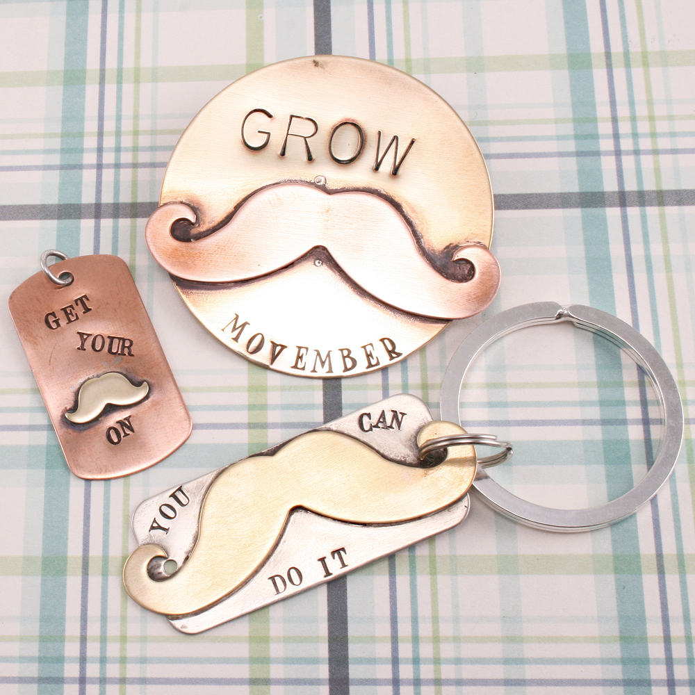Metal Stamping Blanks Copper Mustache, 24g - Ginger