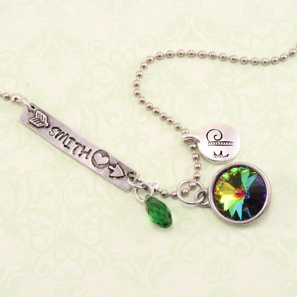 Charms & Solderable Accents Swarovski Crystal Briolette - Emerald  (MAY)