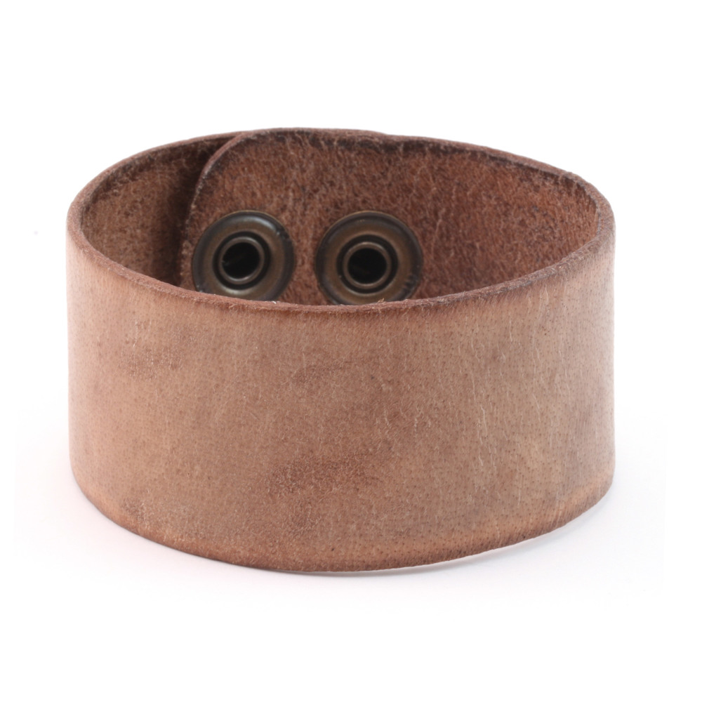 "Leather Stampable Leather Cuff 1 1/4"" Distressed"
