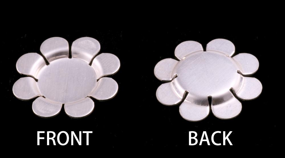 Metal Stamping Blanks Sterling Silver Recessed 8 Petal Flower Blank, 24g
