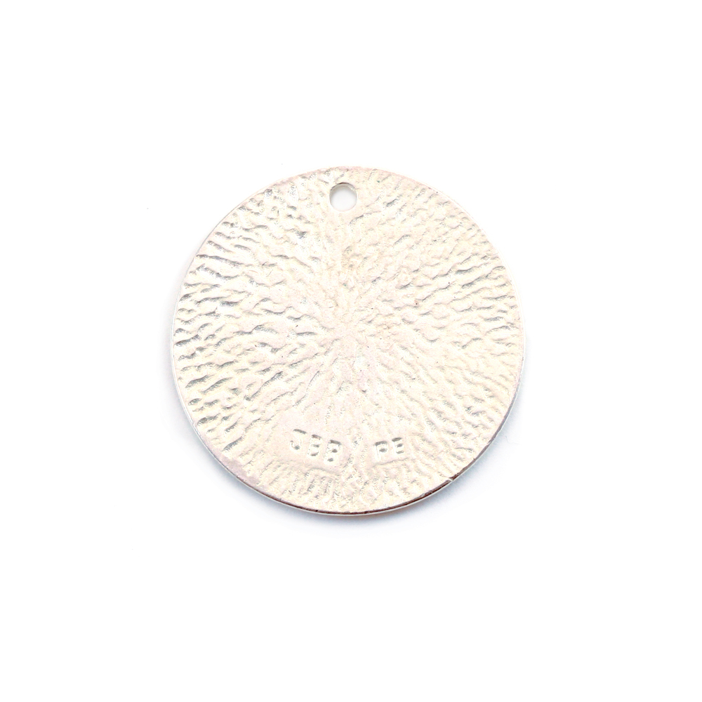 "Metal Stamping Blanks Silver Plated Pewter Round, Disc, Circle with Hole, 22mm (.87""), 18g"