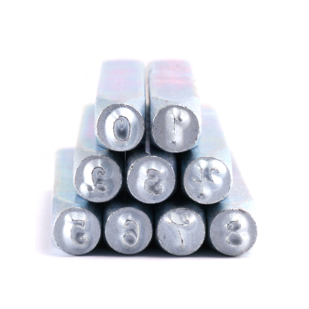 "Metal Stamping Tools Beaducation Kismet Number Stamp Set 1/8"" (3.2mm)"